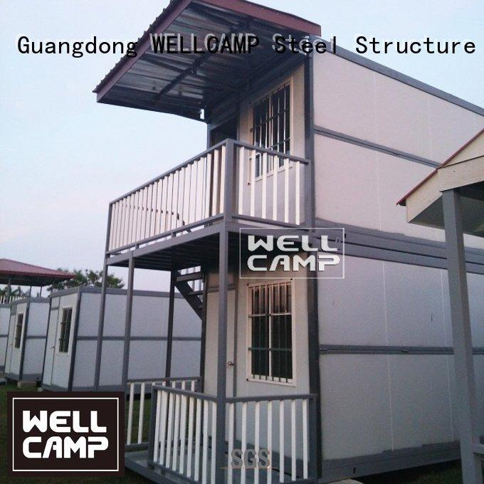 custom container homes glass WELLCAMP Brand container villa