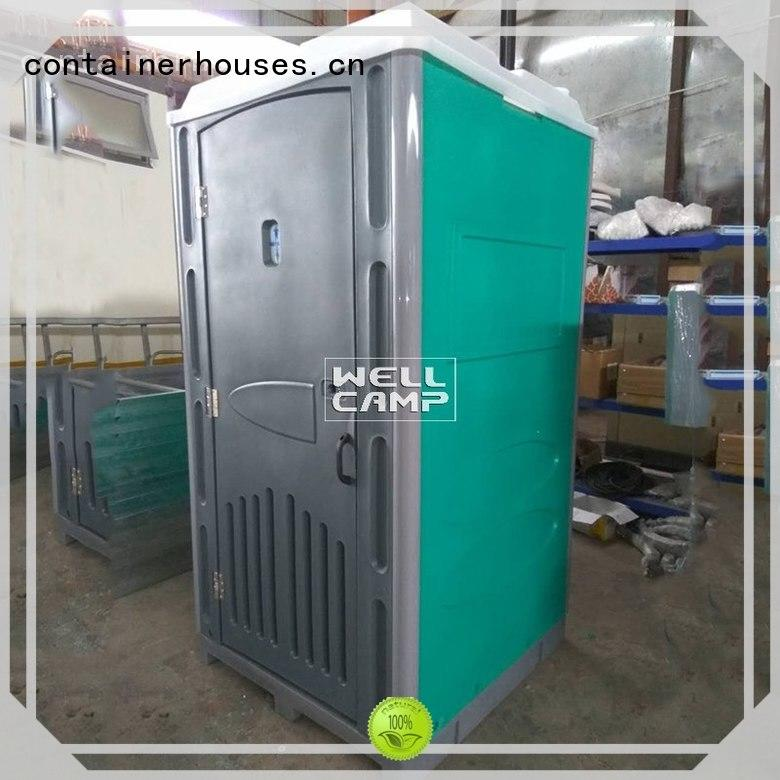 hdpe mobile portable chemical toilet wooden WELLCAMP company