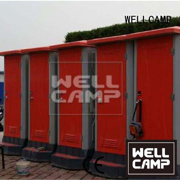 plastic portable toilet chemical moible color rotomolding WELLCAMP