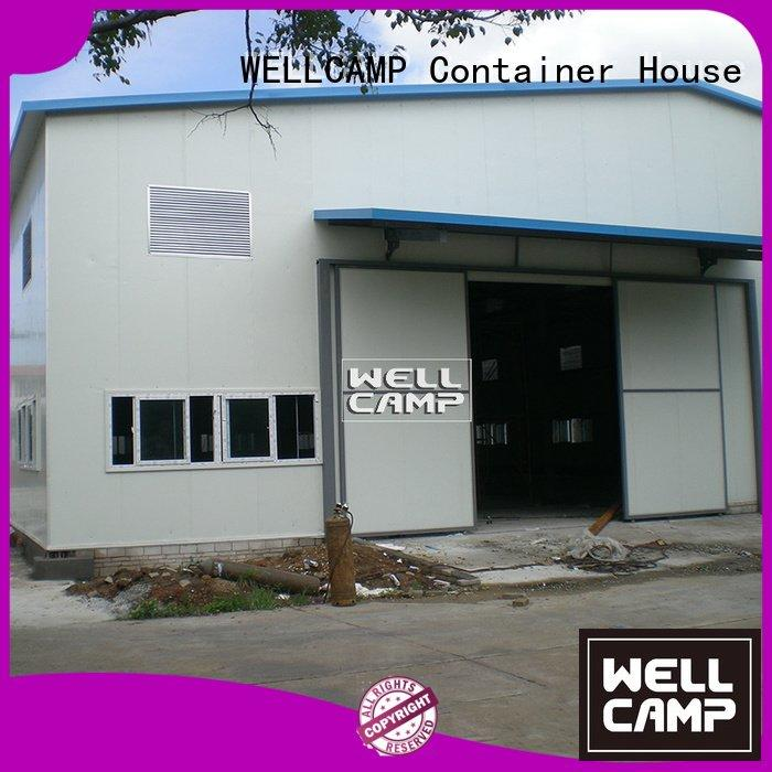 Custom steel warehouse canteen building chicken WELLCAMP