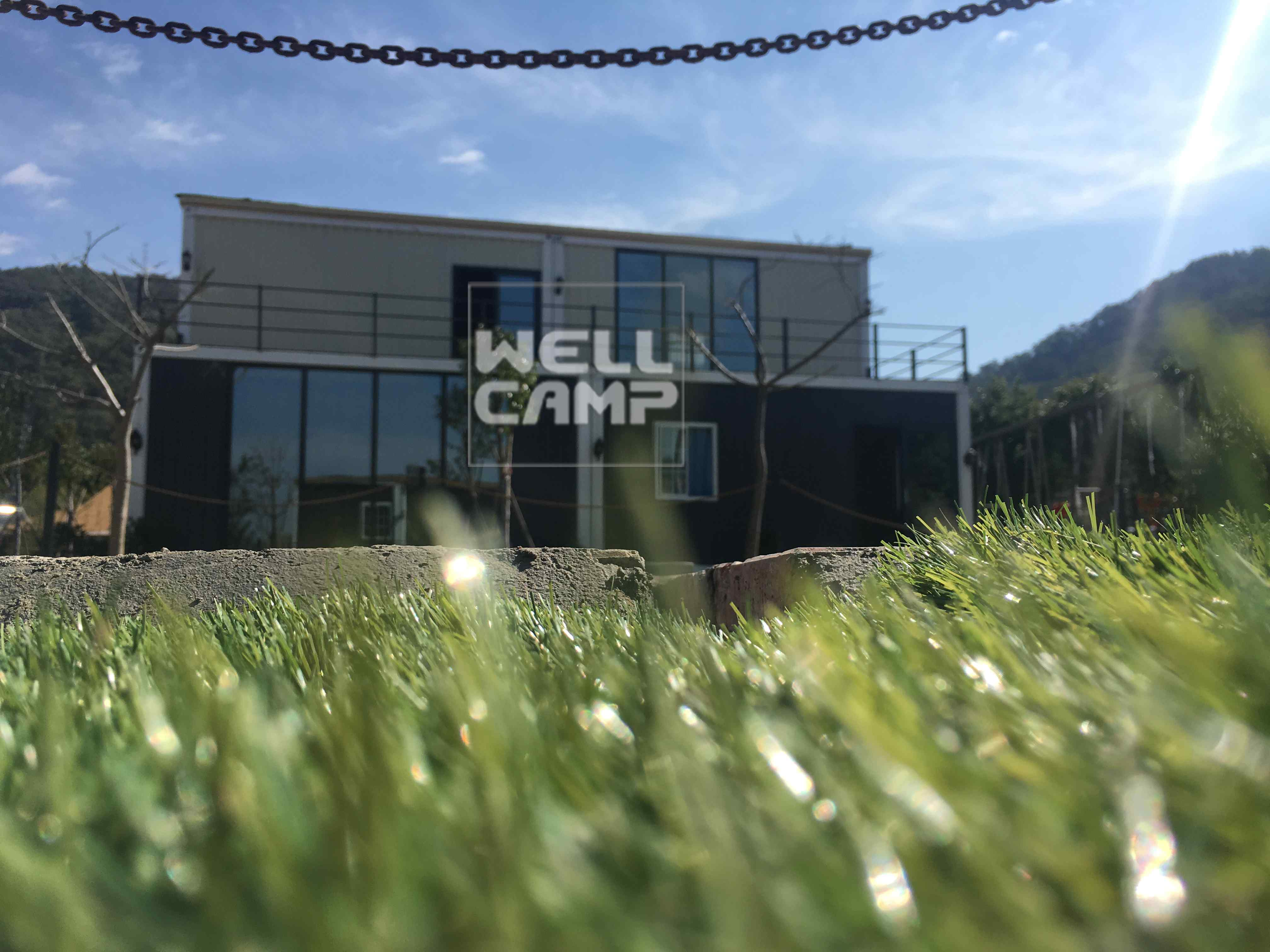 WELLCAMP Easy Installation Two Floors Prefab Container House for Resort Hotel V-13 Container Villa image23