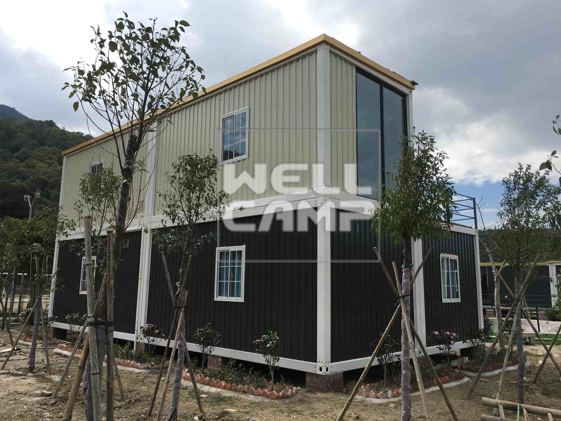 Easy Installation Two Floors Prefab Container House for Resort Hotel  Luxury Manufactured Homes V-13