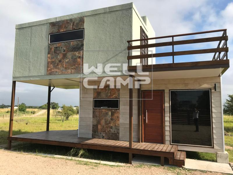 Two Storey Sandwich Panel Foldable Container House for Holiday Resort Affordable Modern Prefab Homes -F07