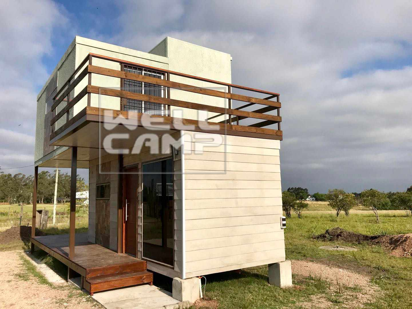 WELLCAMP Two Storey Sandwich Panel Foldable Container House for Holiday Resort  -F07 Folding Container House image53