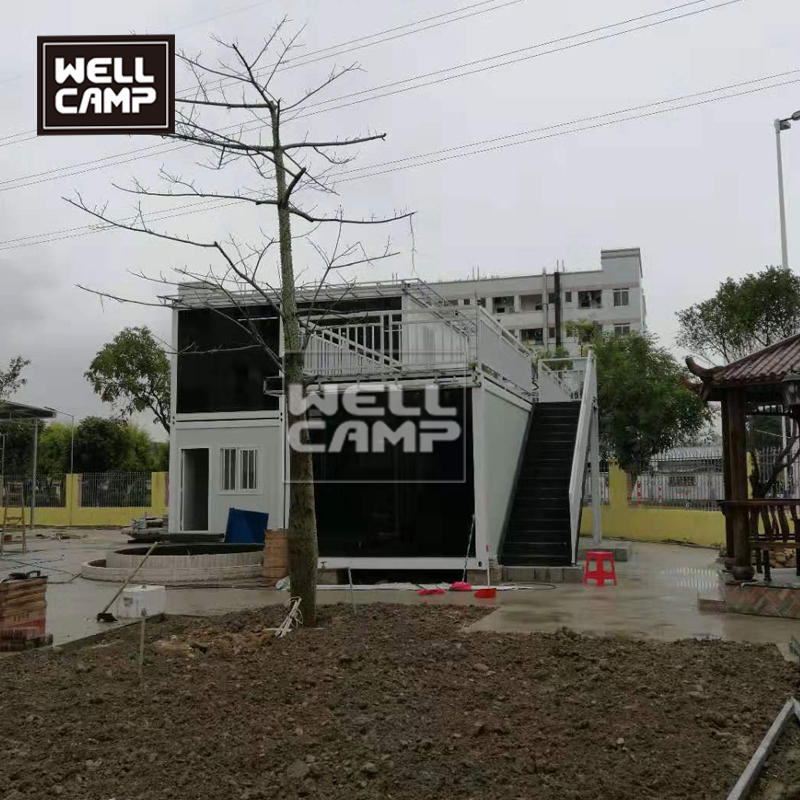wellcamp flat pack container villa mobile container office two floors modular house living container villa