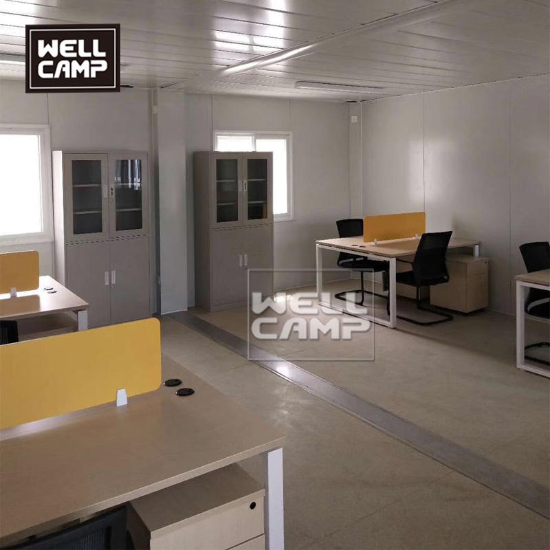 Wellcamp government project container house in South America pre-manufactured flat pack container buildings