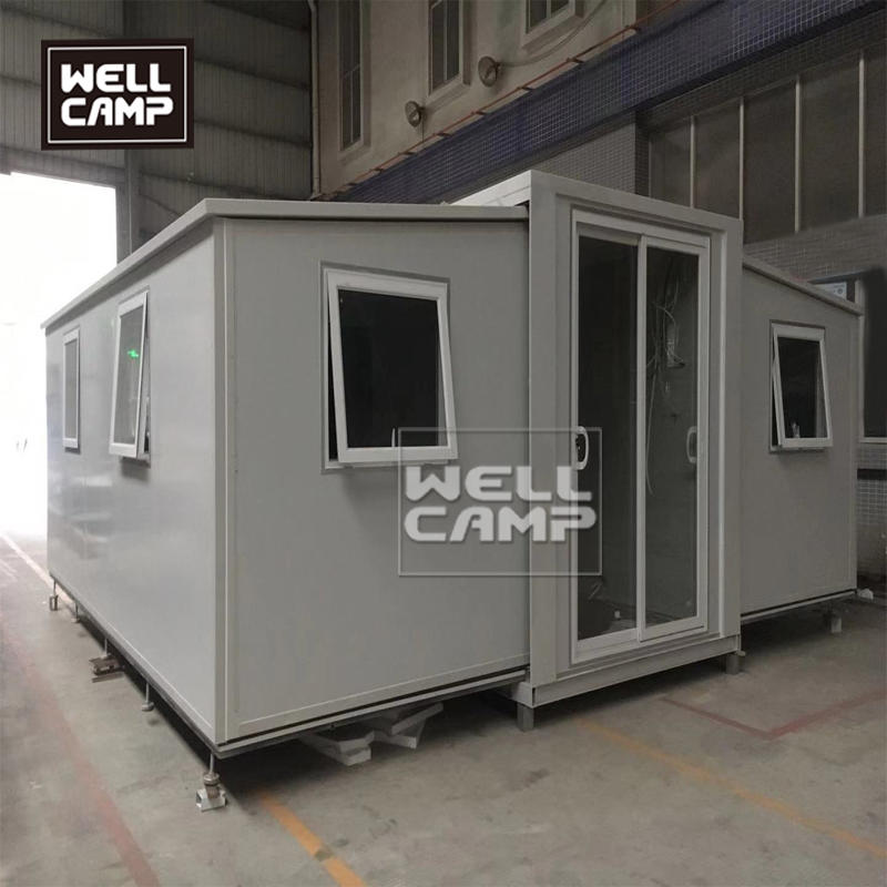The brand new design for expandable container house,two bedrooms with one bathroom which has done all sanitary , mobile expandable container house is a good choice for you.