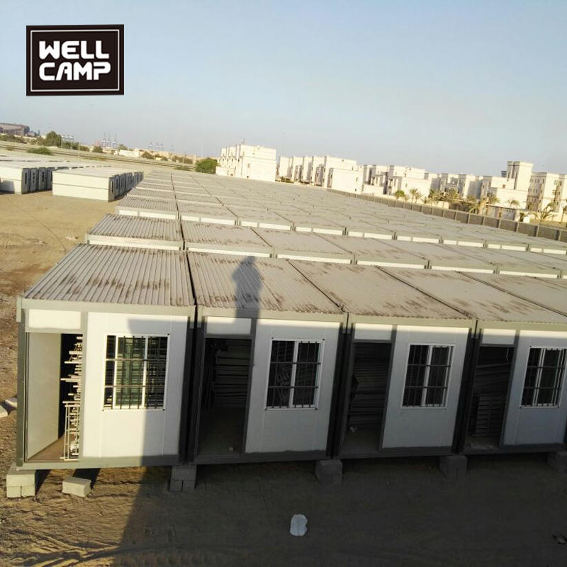800 units folding container house in Middle East for dormitory and office