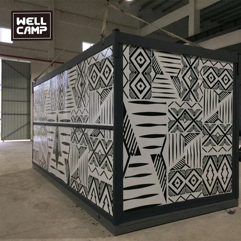 Wellcamp Color Easy Foldable Container House Project In America