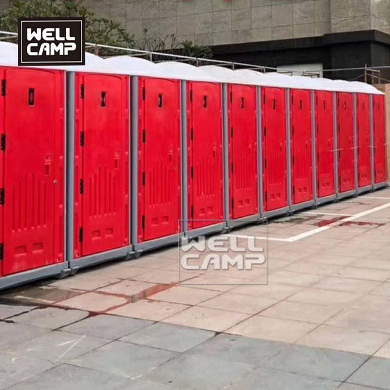 Wellcamp Easy Move HDPE Prefab Portable Toilet House Project In South America