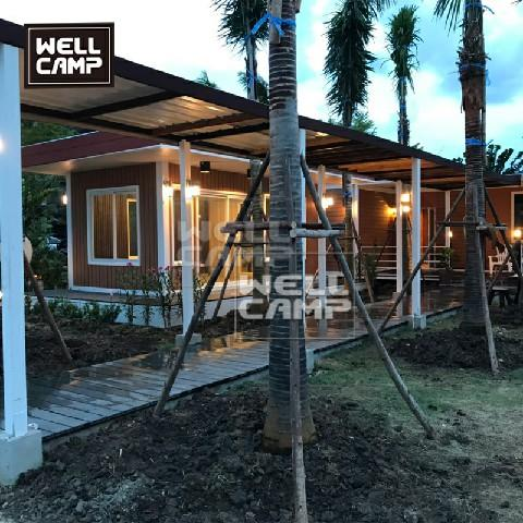 Wellcamp holiday customized prefab container villa in Thailand, the comfortable environment for people to have a unforgettable vocation
