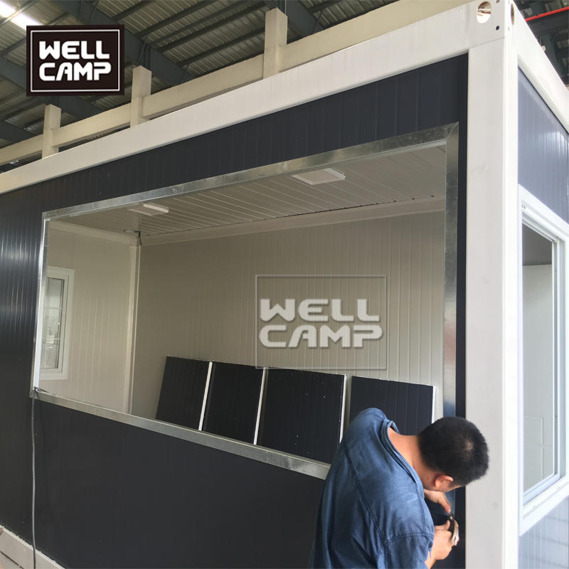 Wellcamp flat pack container coffee shop economical prefab food storage container easy  assemble house