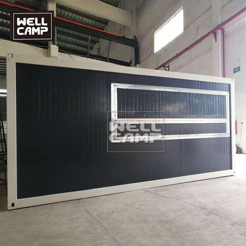 Wellcamp mobile container shop using by flat pack container homes simple sandwich panel prefabricated house