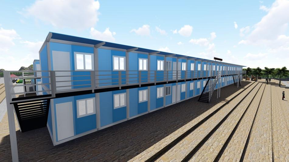 Wellcamp flat pack container school project with classroom & office & kitchen & canteen & meeting room & function room & dormitory and so on