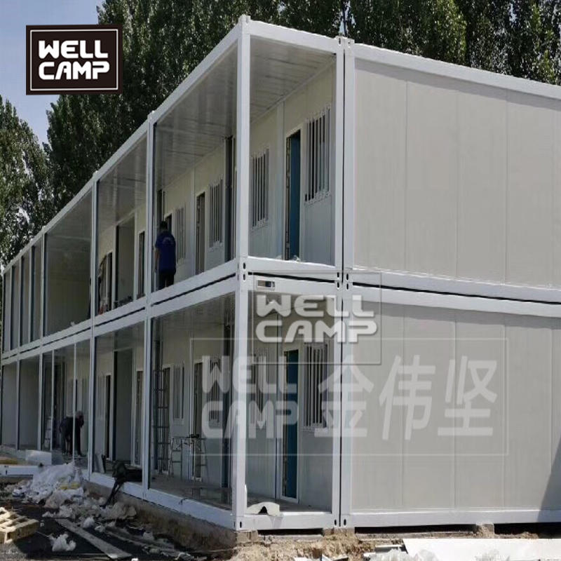 Pre made prefabricated flat pack homes USA for family two floors luxury container buildings in prefab houses