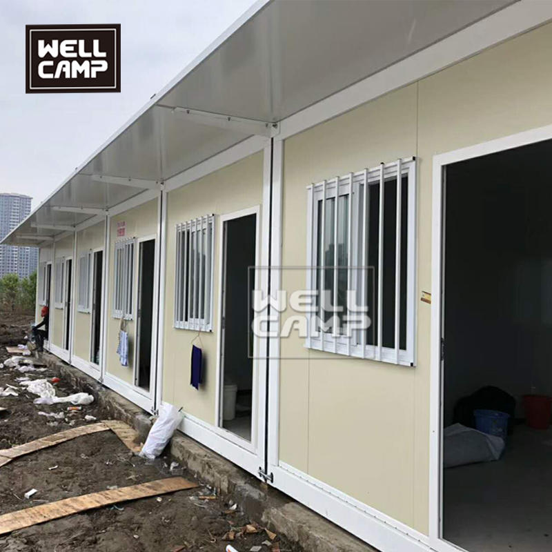 Low cost 20ft flat pack container house in South Africa standard modular prefabricated house for restaurant and canteen