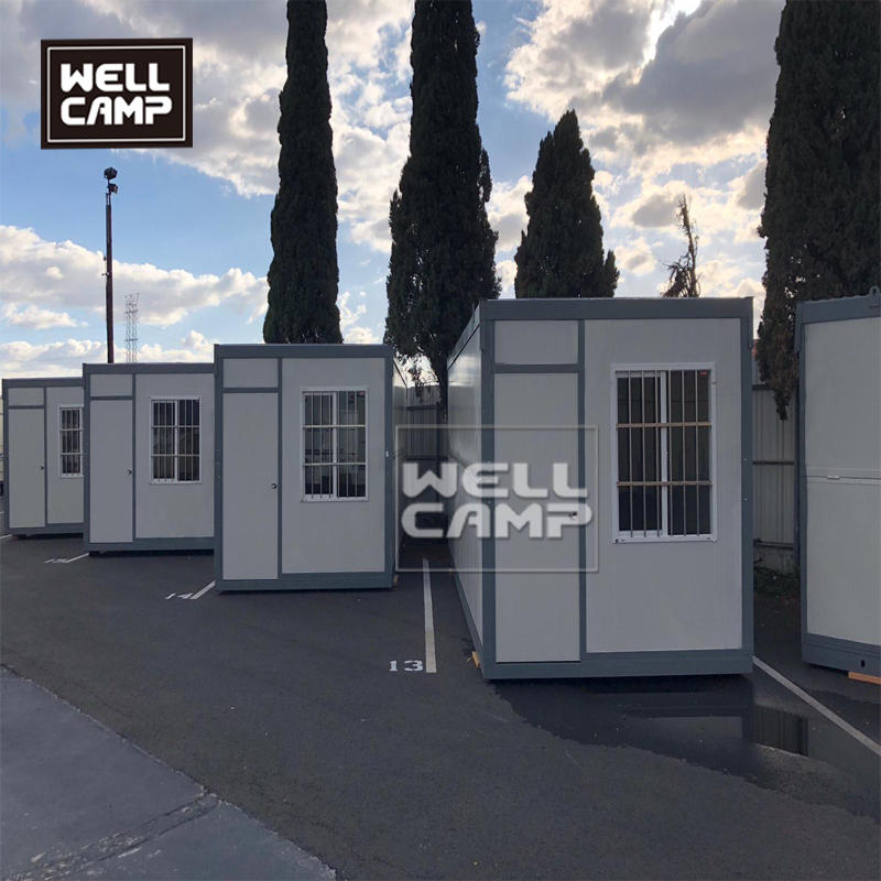 Folding container house in prefab houses folding box for security room pull-down container house in Wellcamp