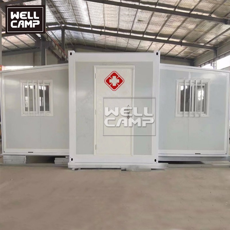 video-Expandable Container House Hospital Can Use For Isolation Room-WELLCAMP-img
