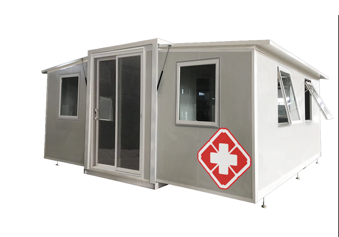 Expandable container house for hospital & clinic & isolation room