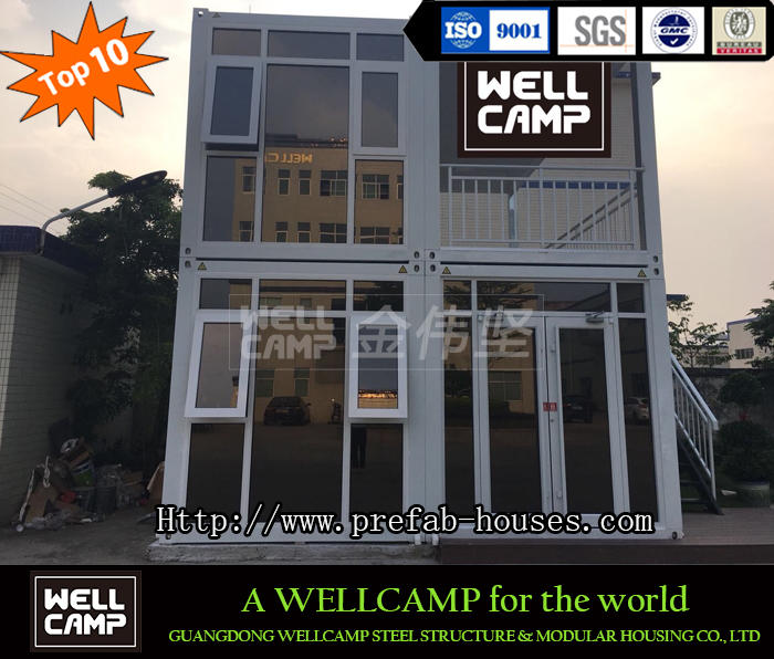 Two Floor Fast Install Duplex Loft Prefabricated Flat Pack Container House for Sale