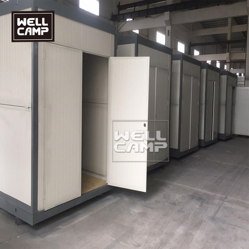 Double door  folding container house with forklift hole ISO modified 20ft foldable container office