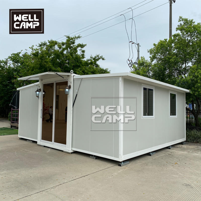 Expandable Flat-Pack Prefab Module Container House With Solar Energy Portable Shipping Container House With 2 Bedrooms