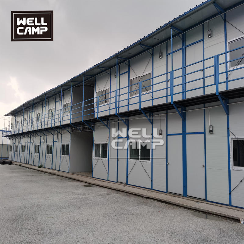Prefabricated K house and T house for labor camp easy install dormitory house prefab office