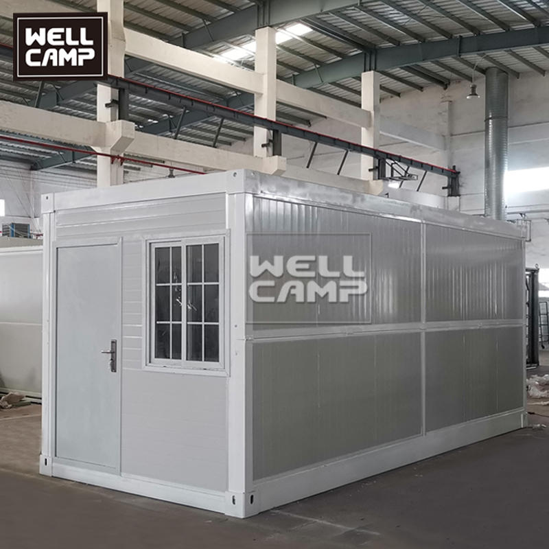 Folding flat pack container house used for dormitory & office & isolation room & storage room 2 mins install one house