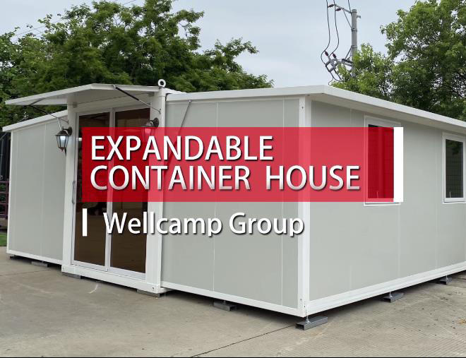 Wellcamp expandable container house Product production loading installation and case dsplay