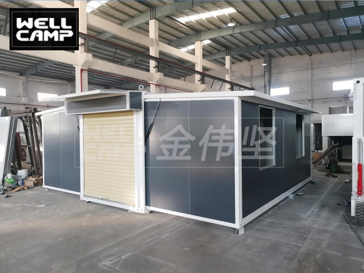 video-Wellcamp expandable container house Product production loading installation and case dsplay-WE-1