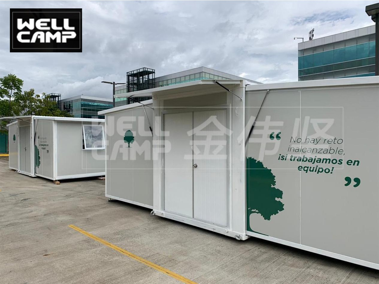 video-Wellcamp expandable container house Product production loading installation and case dsplay-WE-3