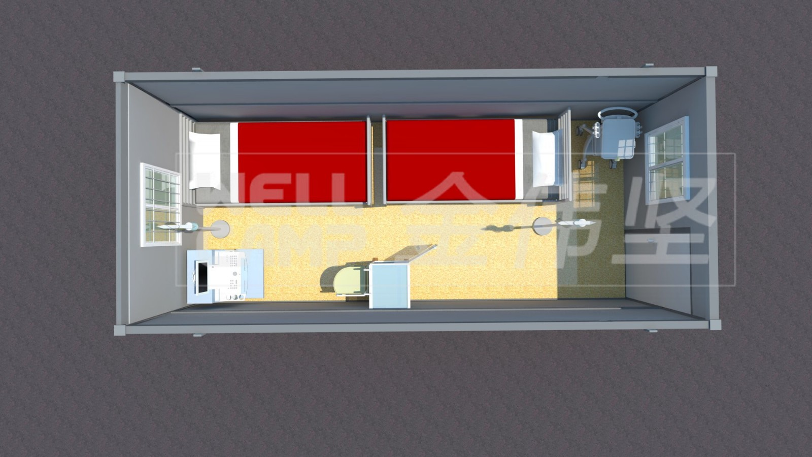 news-WELLCAMP-Three days build a hospital with flat pack container house-img