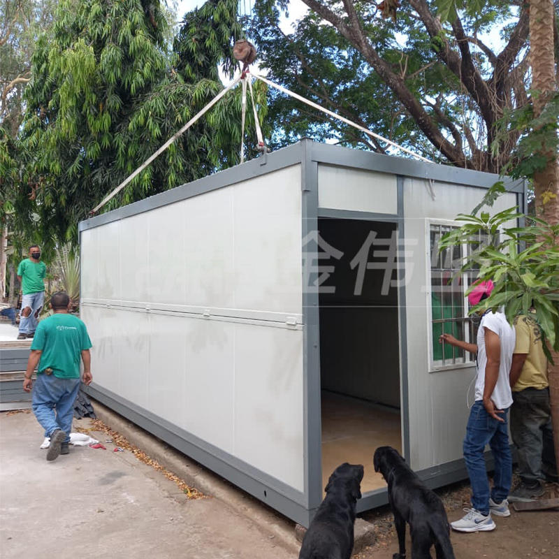 Foldable container house two-floors install in PHI