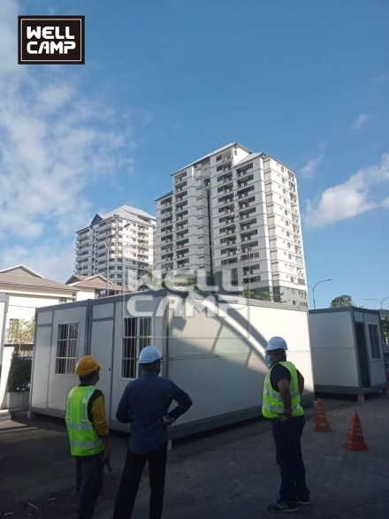 news-Some flat pack folding container houses projects recently-WELLCAMP-img-1