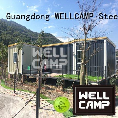 Hot custom container homes glass three double WELLCAMP Brand