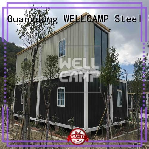 floor Custom wool installation container villa WELLCAMP house