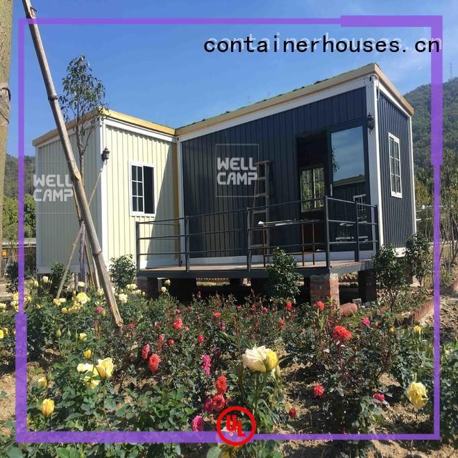 installation living prefab OEM container villa WELLCAMP