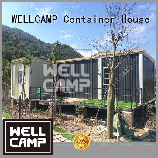 Quality custom container homes WELLCAMP Brand slpendid container villa